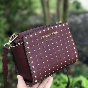 Michael Kors Selma Stud Mini Leather Crossbody Bag